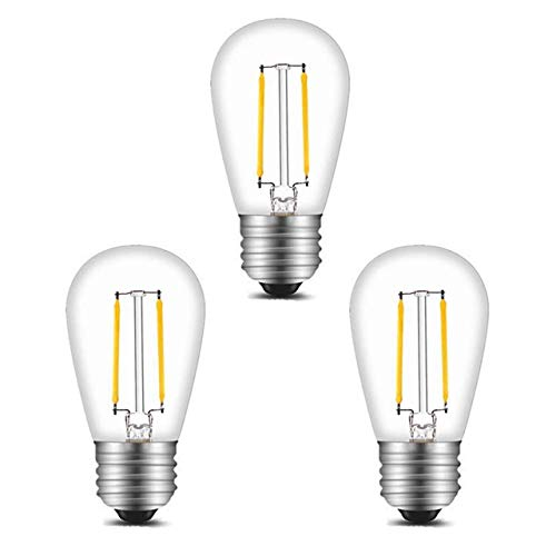 BRTLX S14 E27 LED Glühbirne Edison Lampe 2W Ersetzt 20Watt 150 Lumen 2700K Warmweiß 220V AC 360 Grad Abstrahlwinkel 3per Pack