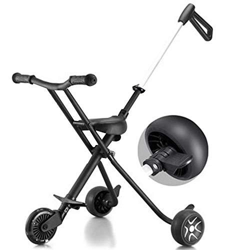 YummeIge driewieler voor kinderen, met driewielremmen, antislip, voor kartefaktwagen, geschikt voor 1-7 jaar, draagvermogen 50 kg zwart.
