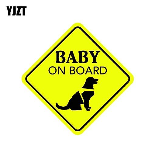 FAFPAY Autoaufkleber 16cm * 16cm Baby an Bord Rettungshund Aufkleber PVC Aufkleber 12-40290