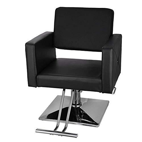 Cestbon 150 kg Chaise barbier Chaise de Coiffeur hydraulique Chaise de barbier en Cuir PU pour Spa Beauté,Noir
