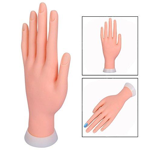 Itian Nail Praxis Modell Weiche Hand Starter Training Nagelkunst Praxishand Übungsfinger Modell für Maniküre