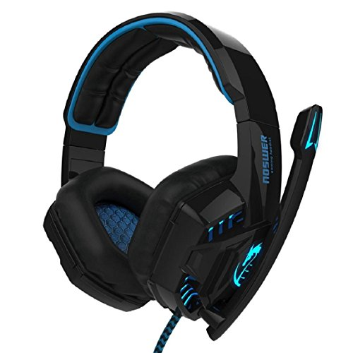 2016 New Arrival Fashion Gaming Headset, Lookatool Noswer Professional Gaming Headset LED Light Earphone Headphone with Microphone