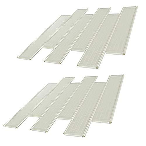 Paquete de 12 soportes de sofá para cojines de flacidez, protectores de asiento de sofá, cojines de fijación rápida para asientos de sofá seccionales