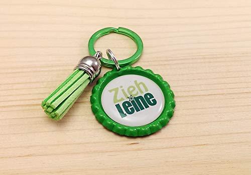 Schlüsselanhänger Kronkorken – Zieh Leine & Quaste/Tassel – verschiedene Farben - Individualisierbar - Handmade