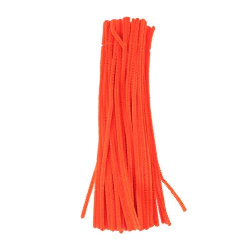 Healifty 100 stücke pfeifenreiniger Chenille stammt Handwerk Chenille Sticks für DIY Kunst Blume Pflanze Handwerk weihnachtsschmuck Ornament (orange)