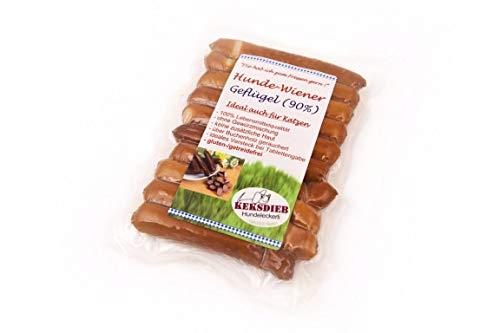 Keksdieb Hunde Wiener Geflügel ohne Gewürze 10 Würstchen Größe 1 x 10 Stück