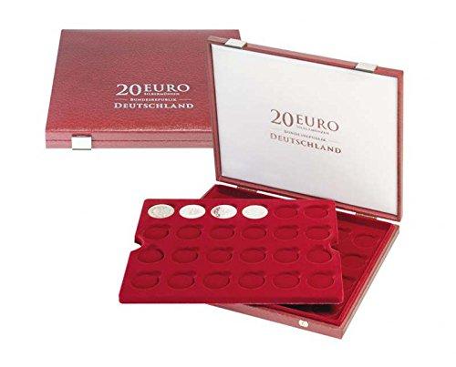 Lindner 2455 Luxus-Kassette für 20 Euro-Silbermünzen Bundesrepublik Deutschland