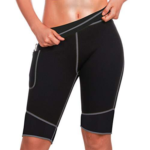 Chumian Damen Fitness Shorts Sport Leggings Yoga Sporthose (Schwarz-weiß, Small)