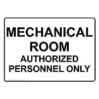 機械的な部屋認可された人員は、サインにサインします