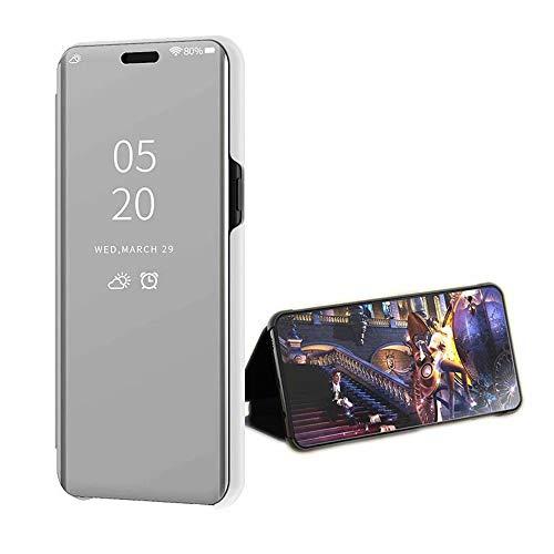 Ukayfe Custodia Compatibile con Samsung Galaxy J6 2018,Custodia Specchio in TPU Silicone Lusso Cristallo Placcatura Mirror Case Ultra Sottile Silicone Morbida Antiurto Protettiva Cover-Nero