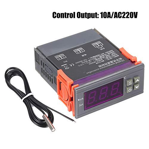 KKmoon Intelligenter Mikrocomputer Digitaler Temperaturregler Hohe Genauigkeit Heizung/Kühlung Temperaturregelung Thermostatregler mit Sensor