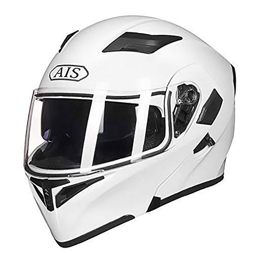 Casco de moto Casco de bicicleta for adultos blanco puro que monta...