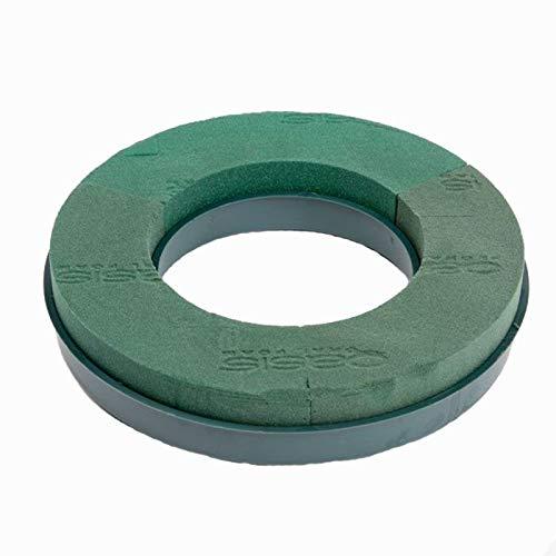 36cm (14') Oasis Florist Plastic Base Wet Foam Wreath Ring (4745)