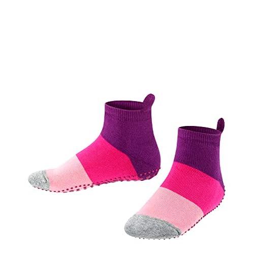 Falke Colour Block Catspads K HP Pantofole a calzino, Multicolore (Crocus 6962), 39-42 Unisex-Bambini