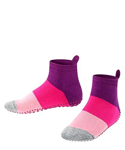 FALKE Unisex Kinder Colour Block Catspads K HP Hausschuh-Socken, Opaque, Lila (Crocus 6962), 31-34