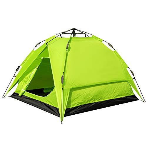 EUGAD Camping Zelt 2-3 Personen Sekundenzelt Schnellaufbau mit Quick-Up-System Kuppelzelte wasserfest mit Tragetasche 180x200x150cm Grün