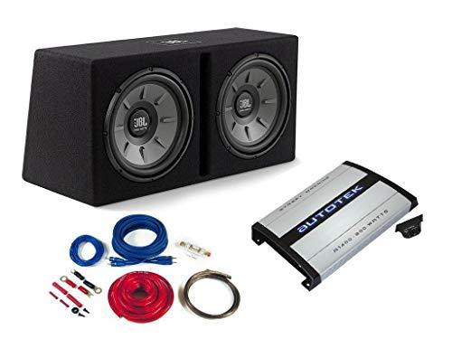 JBL | Autotek Basspaket Komplettset Verstärker Dual Subwoofer Kabelset 1000 W