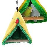 Sheens Posatoi per Uccelli, Tenda Peluche pensile con Uccelli Letto Giocattoli Amaca Triangolo per Uccelli pappagalli Cockatiels Piccoli conuri