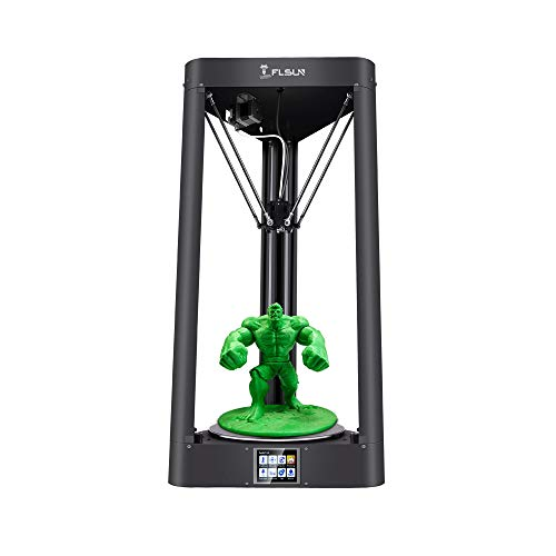 FLSUN Impresora de gran tamaño Delta 3d con tamaño de impresión de 255x360mm con impresión de alta velocidad, plataforma de cristal de celosía, pantalla táctil