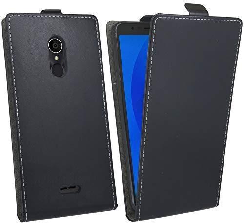 cofi1453® Flip Hülle kompatibel mit ALCATEL 3C (5026D) Handy Tasche vertikal aufklappbar Schutzhülle Klapp Hülle Schwarz