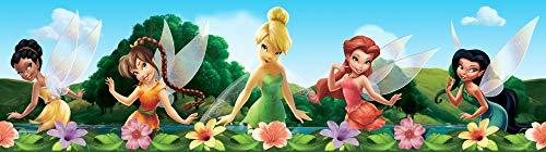 1art1 Disney Fairies - Iridessa, Fawn, Tinker-Bell, Rosetta, Silvermist Bordüre Tapeten-Borte Selbstklebend 500 x 14 cm