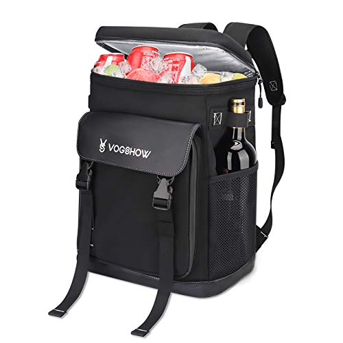 Vogshow Picnic Backpack, 30L Insulated Leakproof Cooler Backpack for 4-5 Person, Lightweight Soft Backpack with Cooler Compartment for Camping, Hiking, Fishing, BBQ