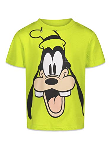 Disney Goofy Baby Boys Graphic Short Sleeve T-Shirt Yellow 18 Months
