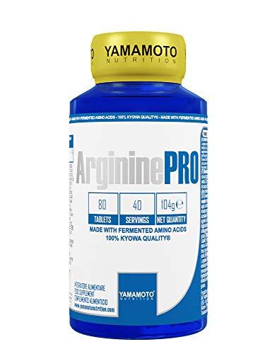 Yamamoto Nutrition Arginine PRO Kyowa® Quality integratore alimentare di L-Arginina (80 compresse)