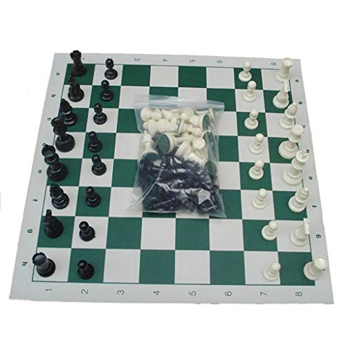 Chess Game Koning High 97mm 77mm 64mm Middeleeuws Schaak, Met Schaakbord 32 Chess Pieces Chesses Plaatgrootte 35cm 43cm 51cm (Size : 64mm with chessboard)