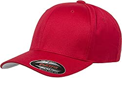 Flexfit Unisex-Adult's Men's Athletic Baseball Fitted Cap, Red, S/M at Amazon Men's Clothing store