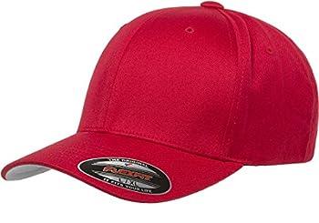 Flexfit Unisex-Adult s Men s Athletic Baseball Fitted Cap Red L/XL