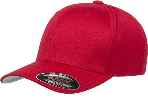 Flexfit Herren Men's Athletic Baseball Fitted Cap Verschluss, rot, S/M