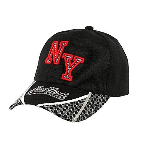 Hip Hop Honour Casquette Baseball NY Noire et Rouge Stan - Mixte