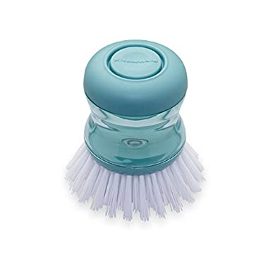 KitchenAid Soap Dispensing Palm Brush, Aqua Sky