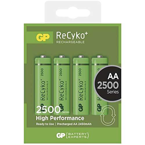 GP Blister de 4 piles rechargeables AA 2500 mAh NiMH