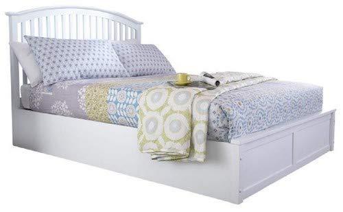 Right Deals UK Weißes Madrid-Doppelbett aus Holz (137 cm) - mit Bettkasten