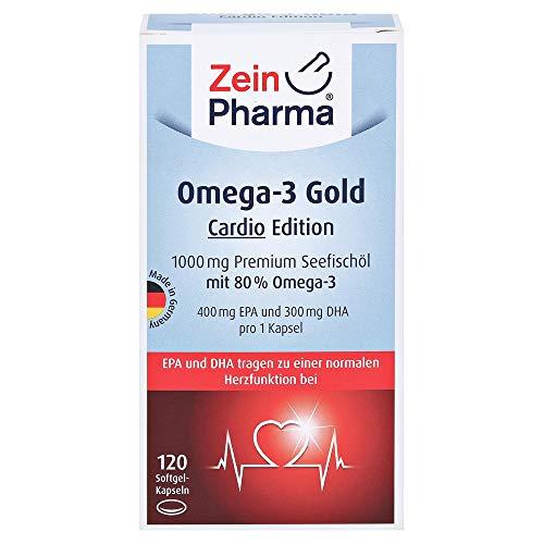 OMEGA-3 Gold Herz DHA 300mg/EPA 400mg Softgelkaps. 120 Stück