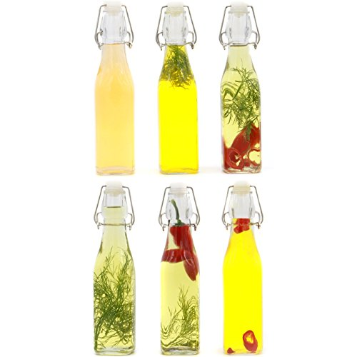 Maison & White Juego de 6 botellas Tapa Clip | Botellas de vidrio hermético | Ideal para hacer cerveza casera | Sello de vacío de estilo vintage 500ml