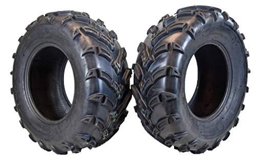 "MASSFX MK251012 ATV 25x10-12 Tires 2 Set Rear 6Ply 1/2"" Tread Depth 25x10x12"