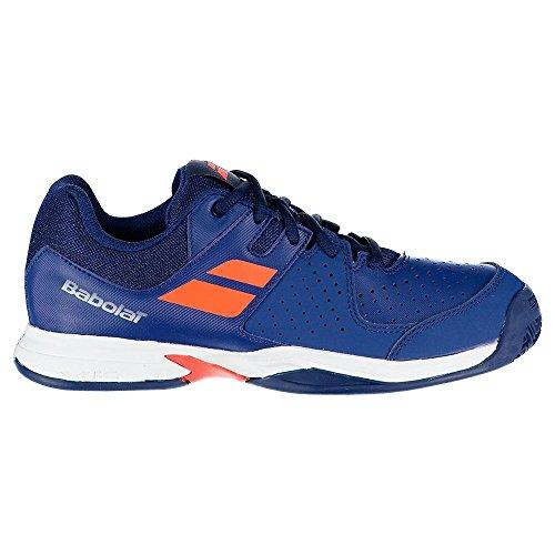 Babolat Pulsion Clay Jr Outdoor Tennisschuh für Kinder (blau/orange)-36