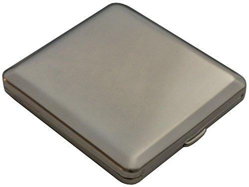 GERMANUS Zigarettenetui, Made in Germany, glänzend, gravierbar mit glatter Oberseite für Gravur, Silber (vernickelt)
