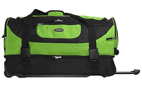 Travelers Club Luggage Upright Rolling Duffel Bag, 30 Inch 120.4L, Green