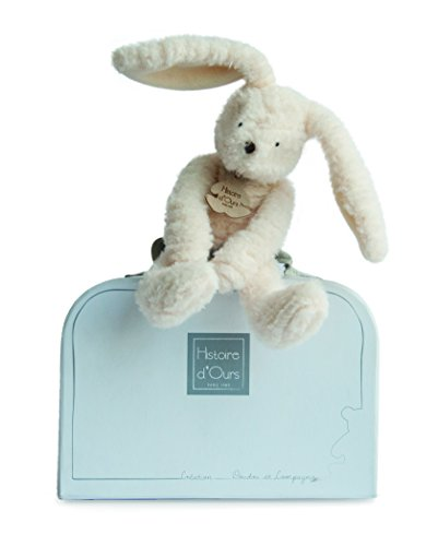Doudou et Compagnie - Doudou Lapin + Valise - 24 cm - Blanc - Sweety Couture - HO2643