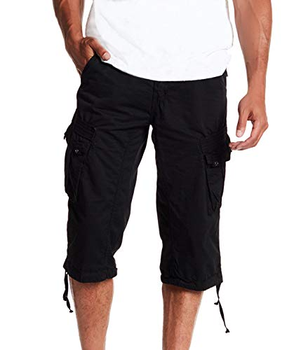 Men's Belted Tactical Cargo Long Shorts 18