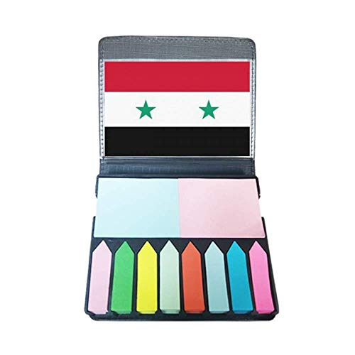 Syrië nationale vlag Azië land zelfklevende notitie kleur pagina markeerdoos