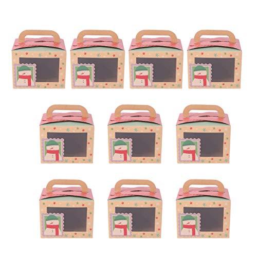 KESYOO 10Pcs Cajas de Embalaje de Pastel de Caramelo Práctico de Navidad...