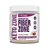 Keto Zone Fiber Powder | Berry Flavored | Psyllium Husk Powder | Inulin Powder | 270 Grams & 30 Day Supply | Recommended in Dr. Colbert's Keto Zone Diet