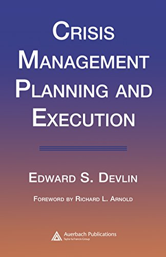 Crisis Management Planning and Execution (English Edition)
