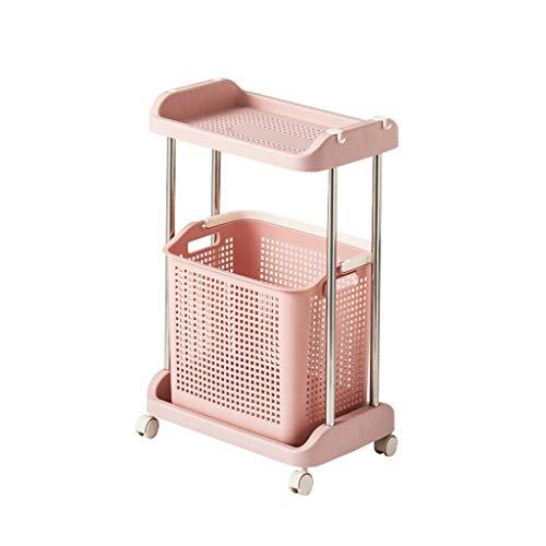 4 Räder Wäschekorb Hämmer Kleidung Spielzeug Lagerregal Truhen Stehendes Badezimmer Küche Orgnizer Bin (Color : C)