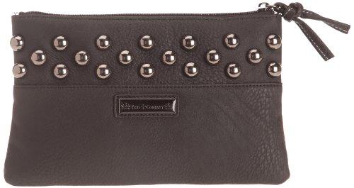 Friis & Company Damen Studda Clutch Rock, schwarz, Taille Unique